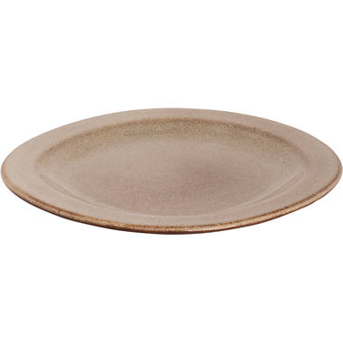 Plate Palmer Earth 21 cm 2 cm Brown Stoneware 1 piece(s) 1