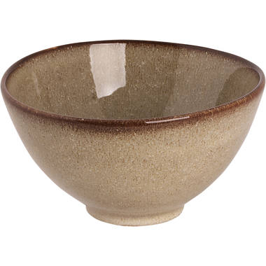 Bowl Palmer Earth 14,5 x 8 cm 60 cl Brown Stoneware 1 piece(s) 1